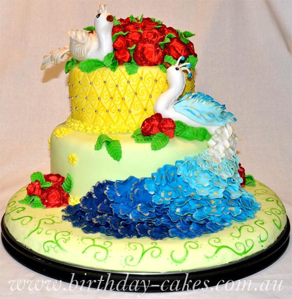 Нажмите на изображение для увеличения Название: peacock-birthday-cake.jpg Просмотров: 15 Размер:107,0 Кб ID:54537