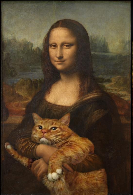 Нажмите на изображение для увеличения Название: Leonardo_Mona_Lisa_cat_sm.jpg Просмотров: 31 Размер:52,7 Кб ID:55517