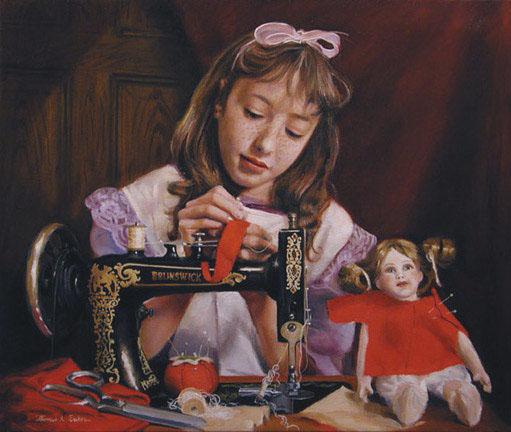 Нажмите на изображение для увеличения Название: Thomas Baker Little seamstress.jpg Просмотров: 78 Размер:93,3 Кб ID:57299
