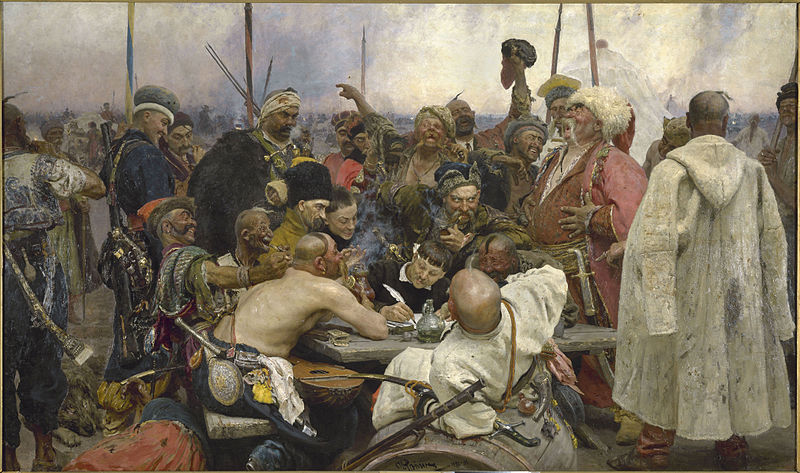 Нажмите на изображение для увеличения Название: 800px-Repin_Cossacks.jpg Просмотров: 46 Размер:115,7 Кб ID:62168
