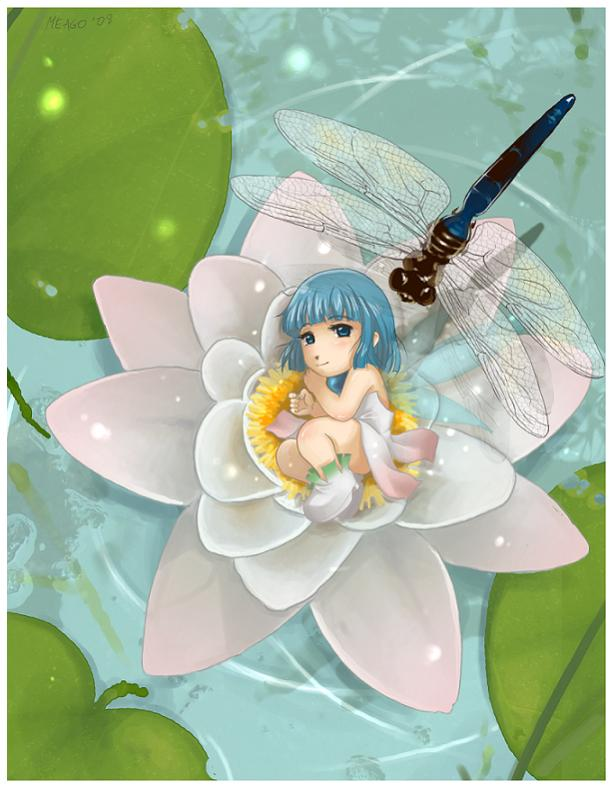Нажмите на изображение для увеличения Название: Lilly_and_dragonfly_by_meago.jpg Просмотров: 16 Размер:59,1 Кб ID:62737