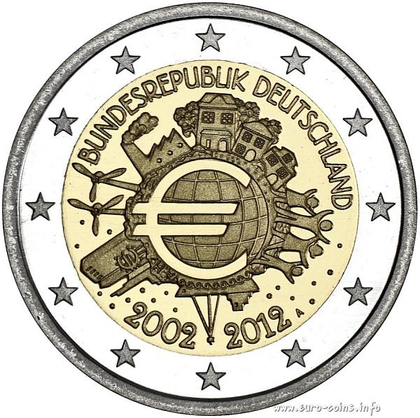 Нажмите на изображение для увеличения Название: germany-2e-2012-10-jahre-euro.jpg Просмотров: 34 Размер:85,6 Кб ID:66204