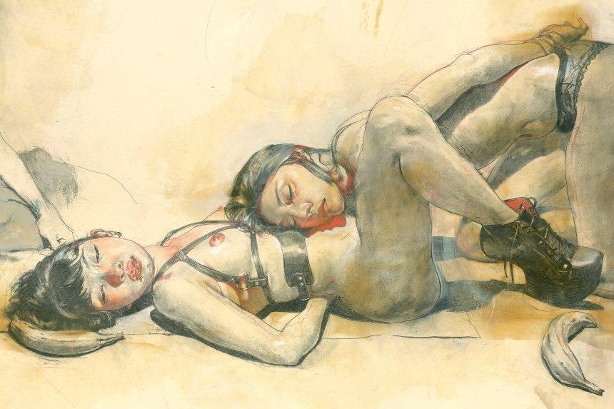 Нажмите на изображение для увеличения Название: Kent Williams sketches_2.jpg Просмотров: 17 Размер:100,4 Кб ID:77564